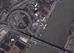 Nanpu Bridge on Google Earth