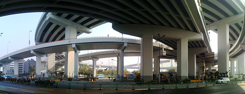 Shanghai-Panorama: Nanpu Bridge