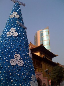 Longines Christmas Tree at Jing'an Temple