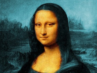 "Mona Lisa with Orange-Teal-Hues by ""Into The Abyss"""
